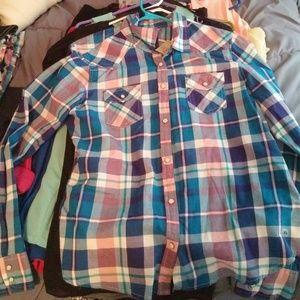 Plaid button up shirt